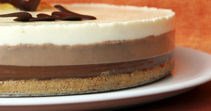 como hacer tarta 3 chocolates