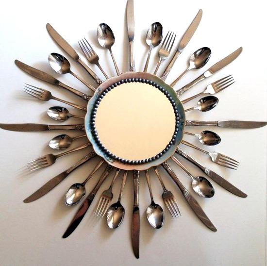 marco de cucharas para espejo